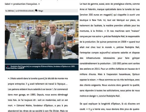 Optisun : des lunettes « 100 % made in France » à Oyonnax